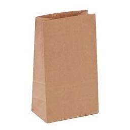 Bolsa de papel panadería bizcochos kraft marron 15x9x26 cm