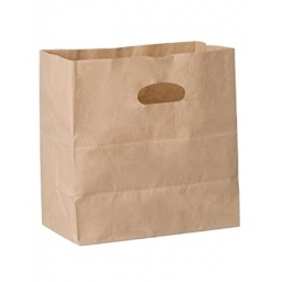 Bolsa de papel kraft sacabocado 28x25x16 paquete x10