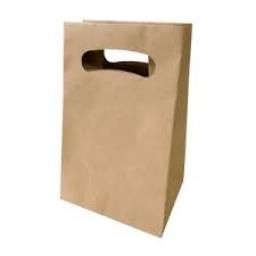 Bolsa de papel kraft sacabocado 33x25x16 paquete x10