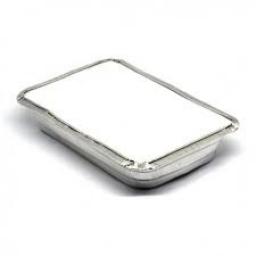 Bandeja de Aluminio con tapa 1/2 kg.