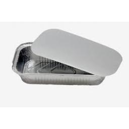 Bandeja de Aluminio con tapa 3/4 kg.