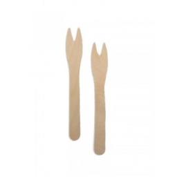 Tenedor de madera paq.x50.