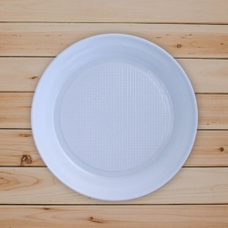 Platos plastico 18 cm Paquete x10