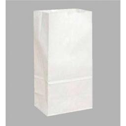 Bolsa para bizcochos blanca paquete x 20