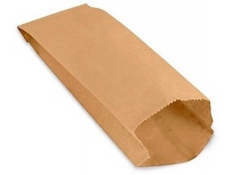 Bolsas de papel kraft 24x12x7 paquete x50
