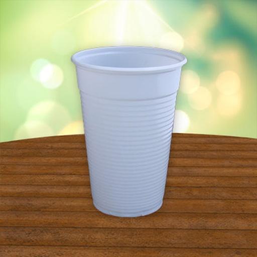Vaso blanco 300 ml.